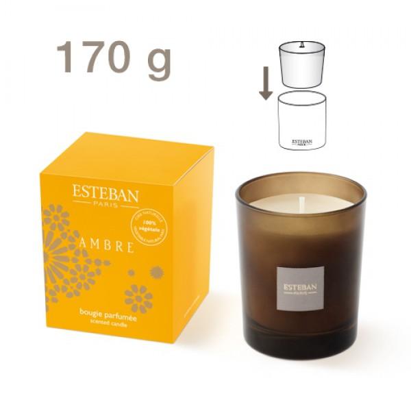 Esteban nachfüllbare Duftkerze - Ambre