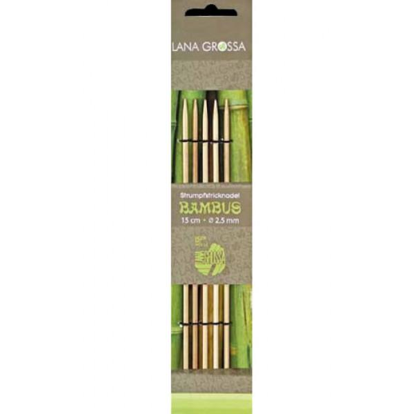 Strumpfstricknadel Bambus 15cm