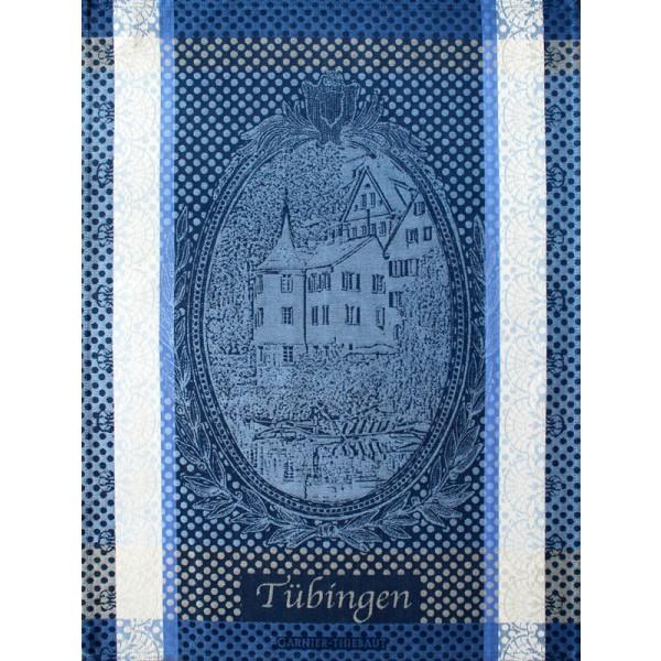 Garnier-Thiebaut Geschirrtuch TÜBINGEN Blau